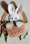 Easter Bunny Stumpwork - Free Pattern