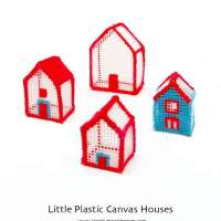 How to Make Little Plastic Canvas Houses