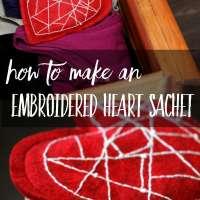 How to Make an Embroidered Felt Heart Sachet