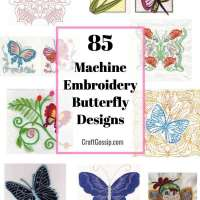 85 Stunning Butterfly Machine Embroidery Designs