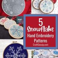 5 Christmas Snowflake Hand Embroidery Designs