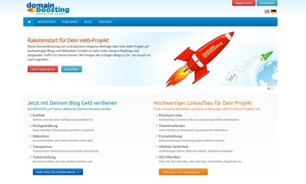 Domainboosting – Geld verdienen mit Blog-Marketing