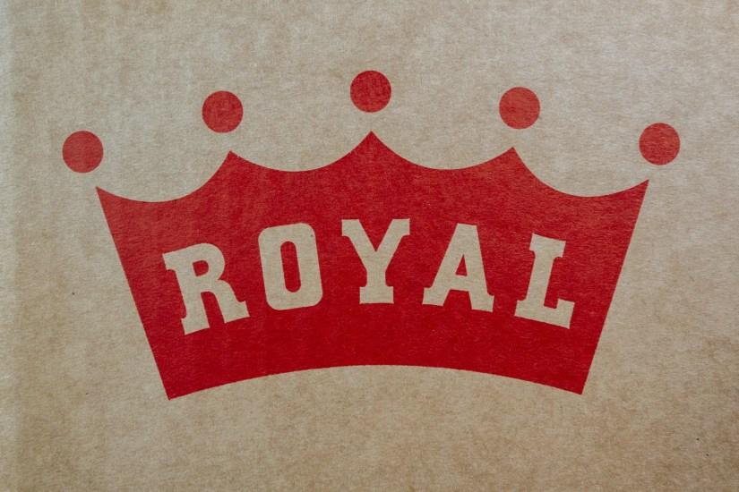 New royal logo on crown jewel box