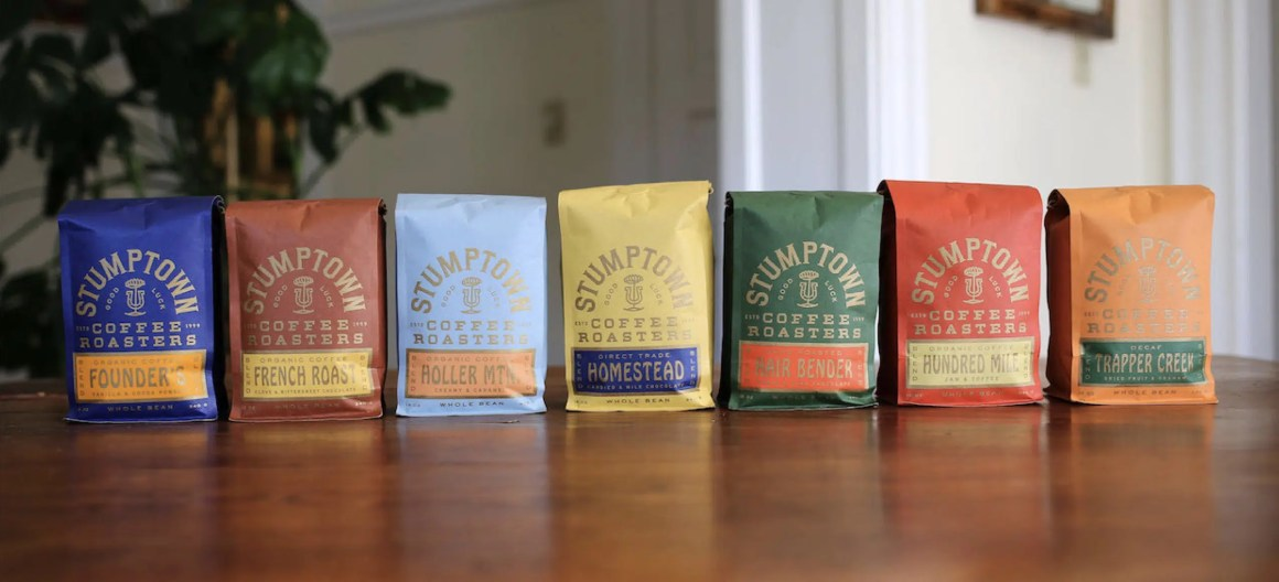 Stumptown's new packaging that show flavor notes