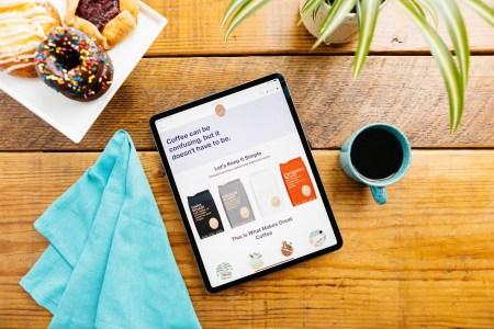 Coffee Bros. website looks fabulous on an iPad