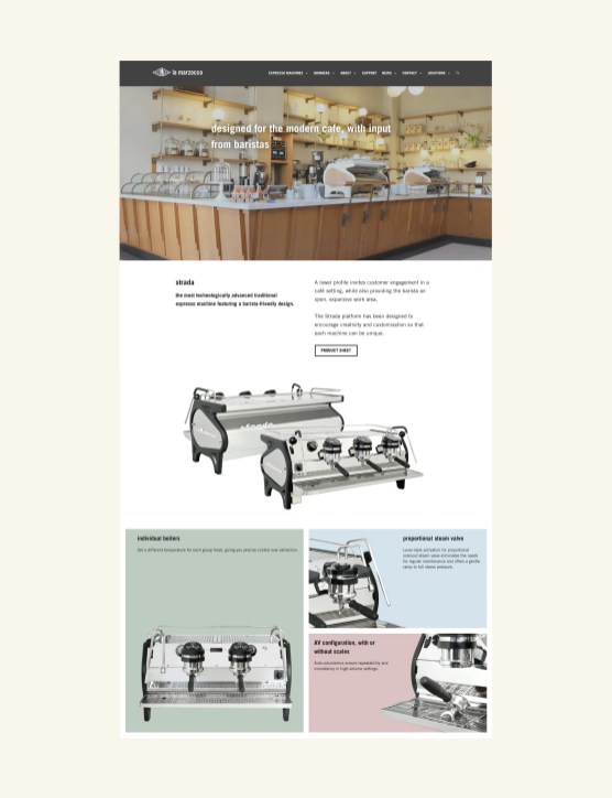 Strada Machine Page