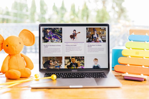JoyRx Blog on Laptop
