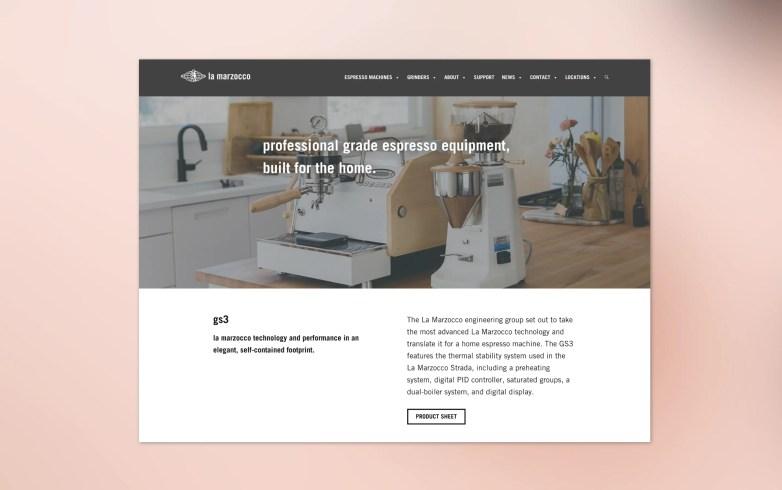 New minimal design on website