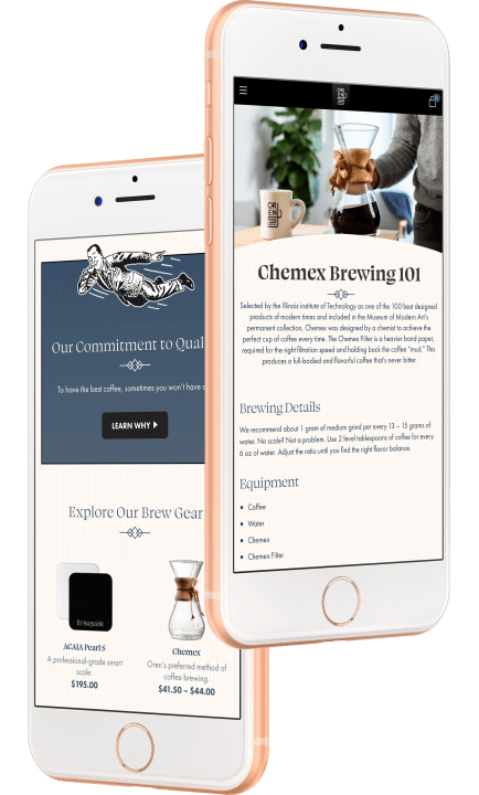 brew guide and brew gear on iPhone