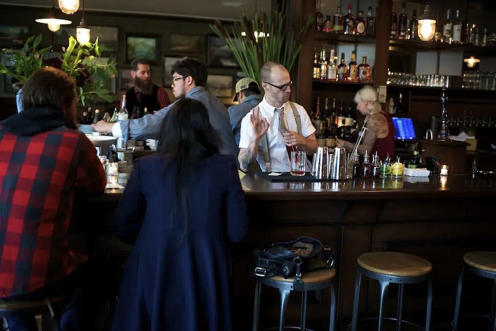 Woodsman Tavern bar