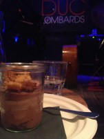 a little chocolate mousse with almond crumbles before the jazz concert