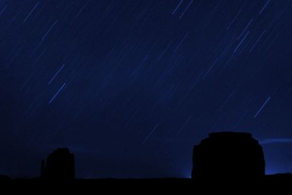 Star Trails at Monument Valley