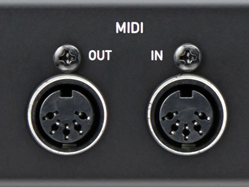 5-pin MIDI IN and OUT ports