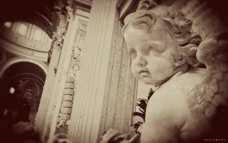 Statue of Cherub Angel at St. Peter's Basilica
