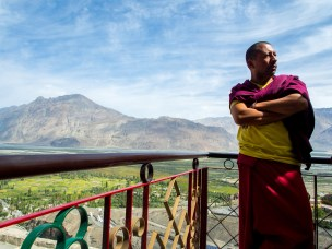 A monk at Thiksey Monastery ,Ladakh