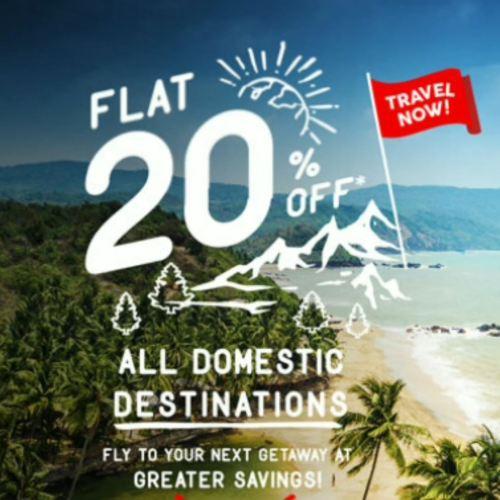 Flat 20 percent off AirAsia India (I5)