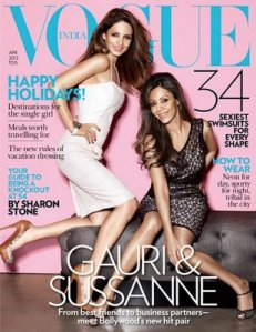Vogue india April 2012 Cover Sussanne Gauri