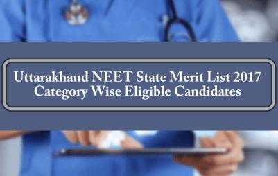Uttarakhand NEET State Merit List