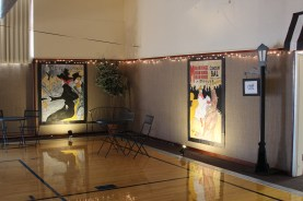 4'x6' watercolor reproductions of Toulouse Lautrec's Moulin Rouge Art by Julie Nef