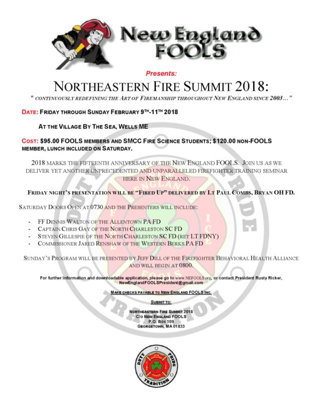 Northeastern Fire Summit 2018 New England Fools