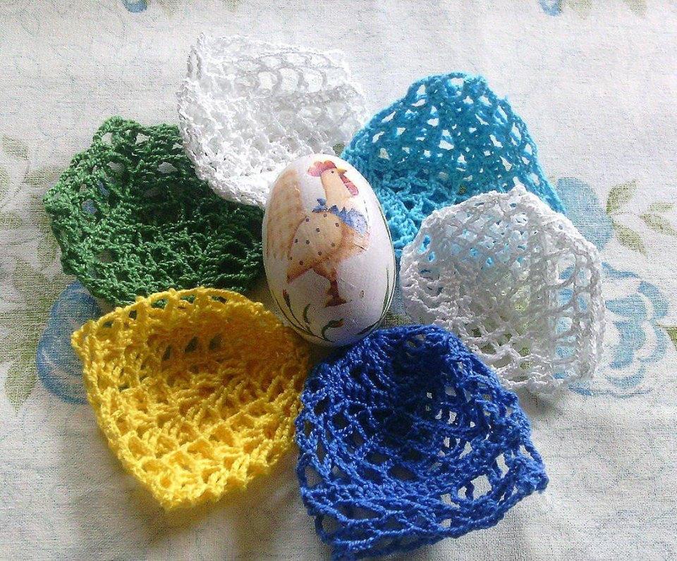 Wielkanocne jajeczka spod szydełka