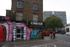 Walking down Hackney Road, the border street between the boroughs of Hackney and Tower Hamlets.
