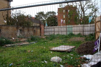 An abandoned lot on Dunston Road.