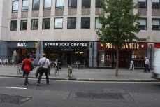 The typical London corporate eatery trifecta: Eat, Starbucks, Pret.