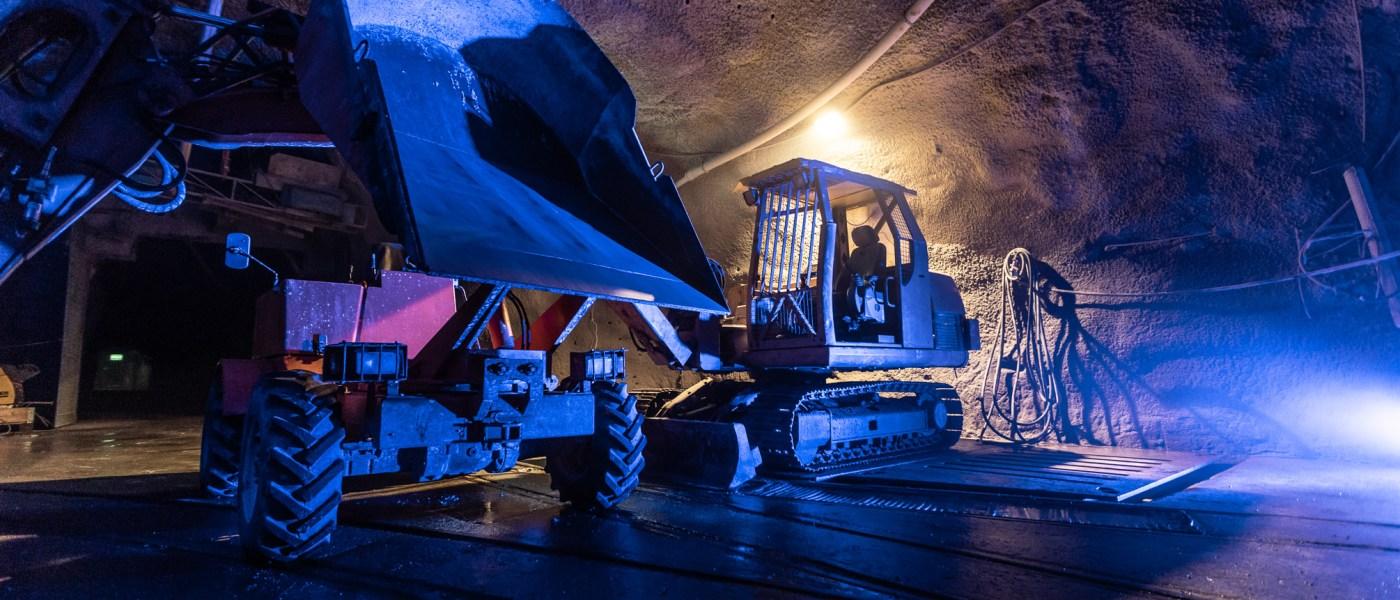 Impression von der Nacht im Bergwerk