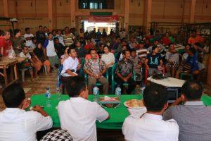 sosialisasi pembangunan pasar di hadiri ratusan pedagang