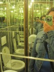 Crazy mirrored bathroom