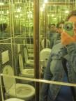Crazy mirrored bathroom