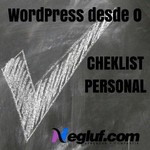 Checklist para WordPress – Versión personal 1.0.