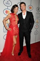 Paula Patton and husband Robin Thicke