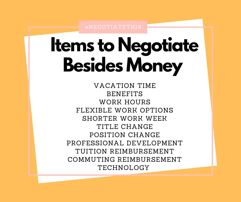 Items to Negotiate Besides Money