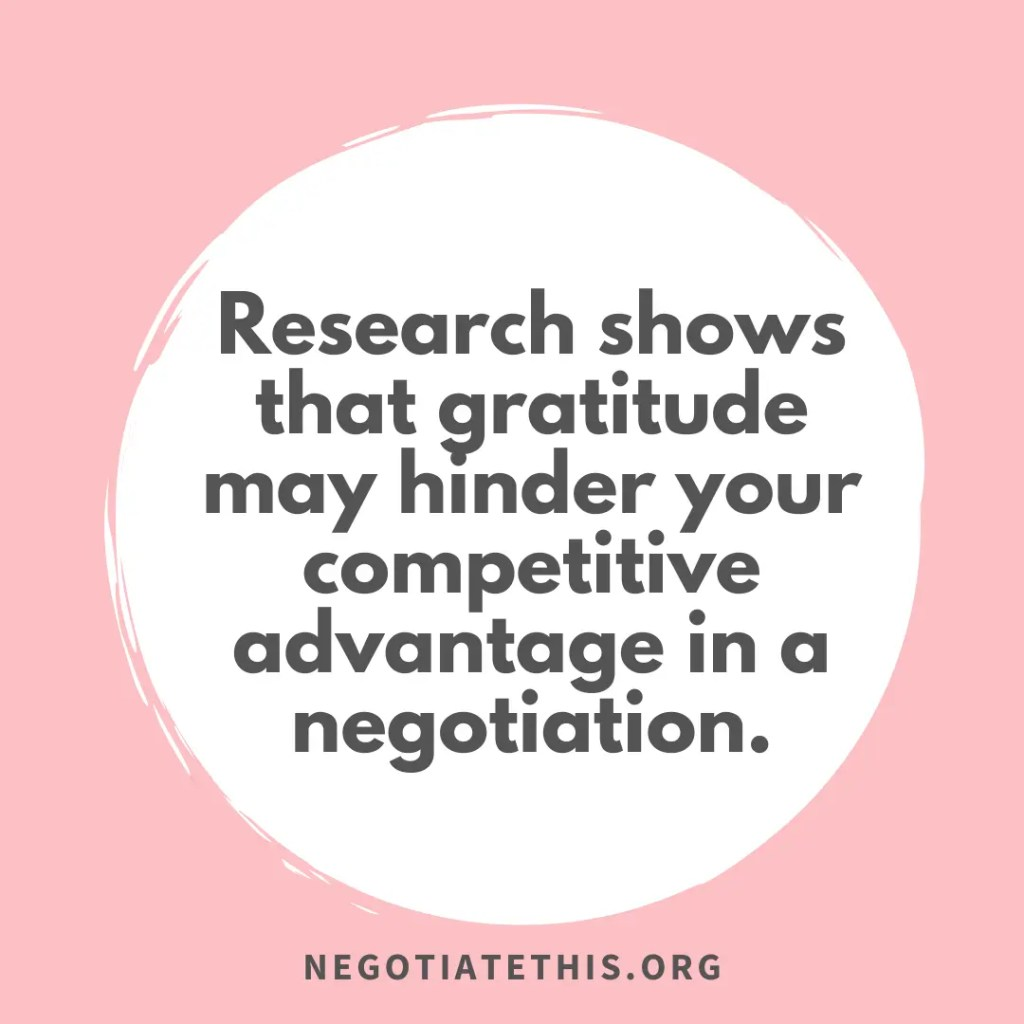 negotiation gratitude