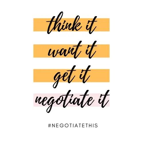 negotiate it