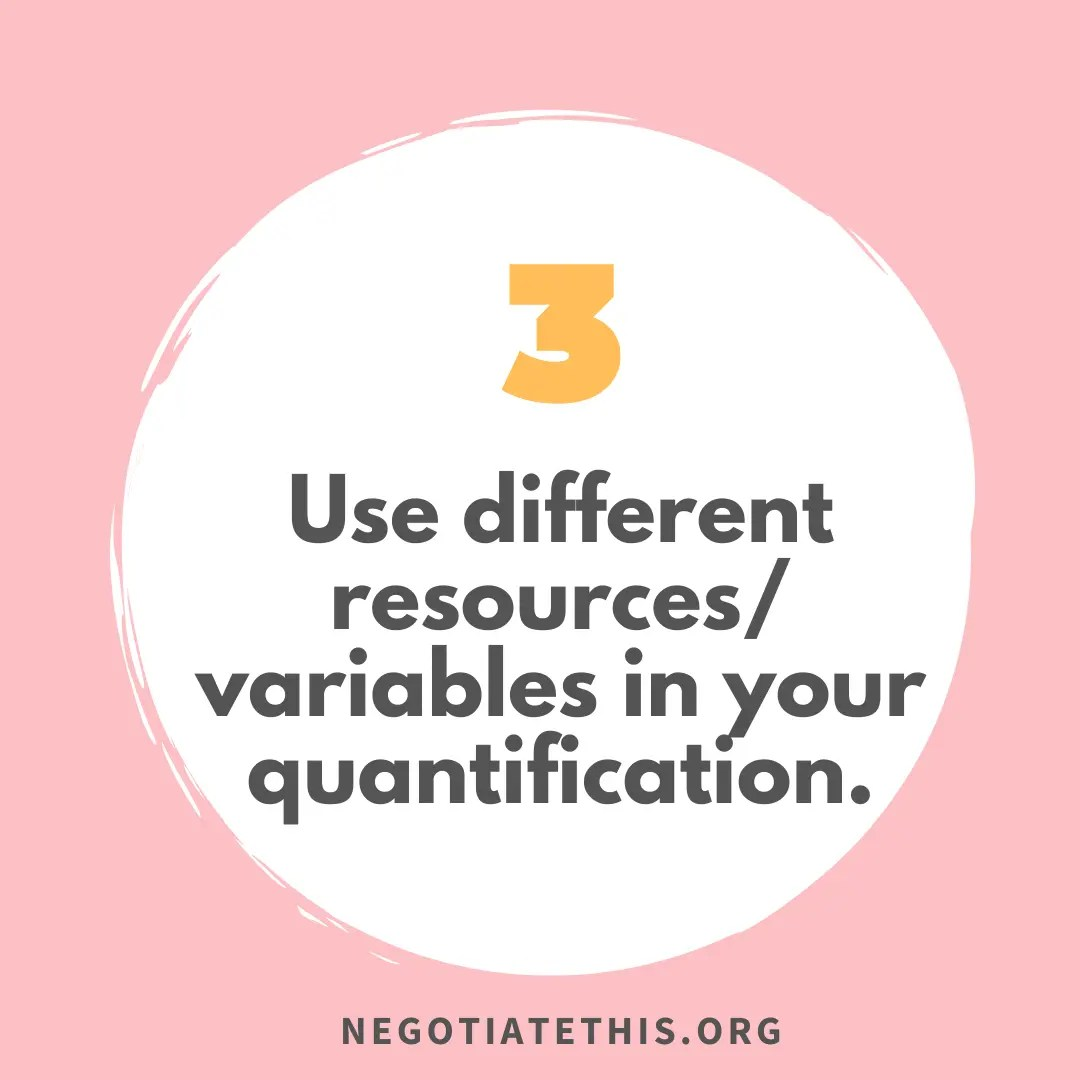 Find the numbers: use different resources variables