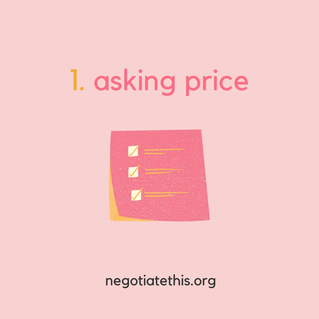 3 numbers ready: asking price
