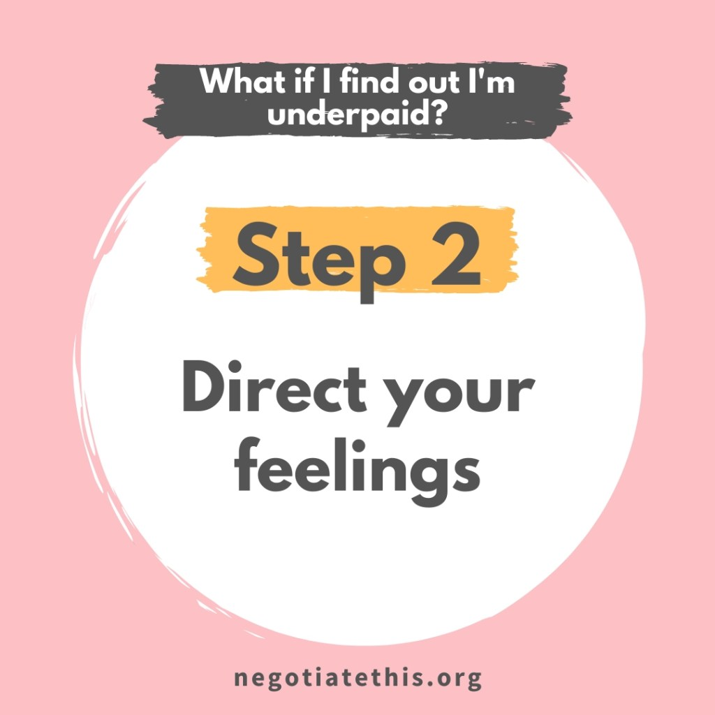 step 2: direct your feelings