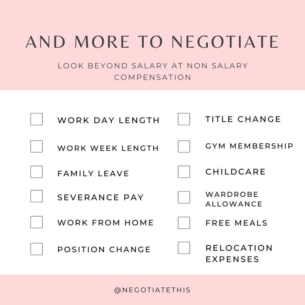 more to negotiate