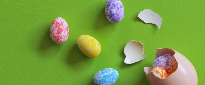 Яйце - изненанда, пълно с шоколадов крем