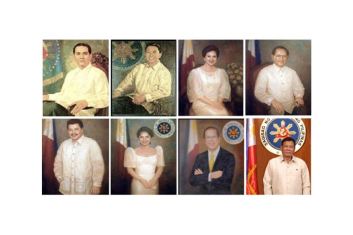 Last 8 Presidents of the Philippines