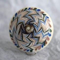 glass-bead-shield-integrative-art-nathalie-crottaz-flameworker-artist
