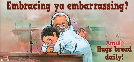 Amul hits on hugs!