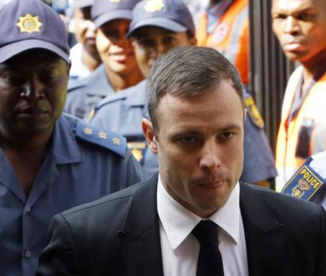 South African Olympic And Paralympic Sprinter Oscar Pistorius Arrives At The North Gauteng High Court In