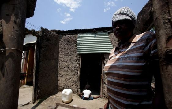 File picture of a grandmother who was raped in South Africa