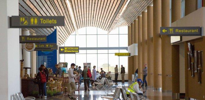 Inside the international terminal at Victoria Falls International Airport Photo Tami Walker