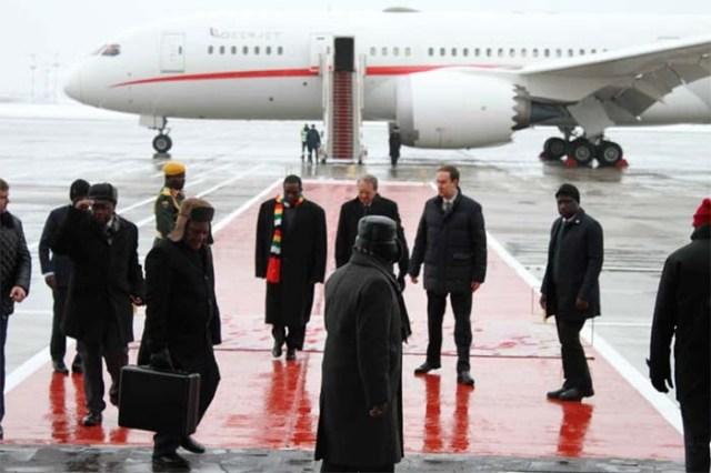 Mnangagwa plane to Russia