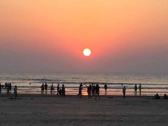 Sunset at Shrivardhan beach